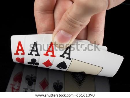 Winning hand - stock photo