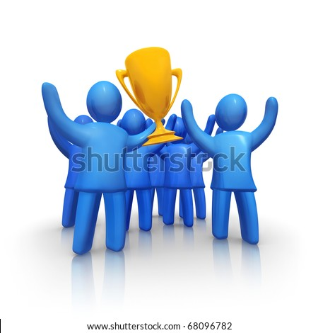 Winning team - stock photo