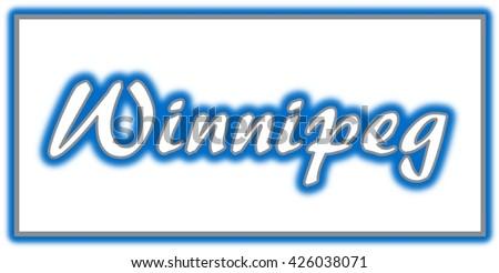 Winnipeg Word Clip Art Stock Illustration 426038071 ...
