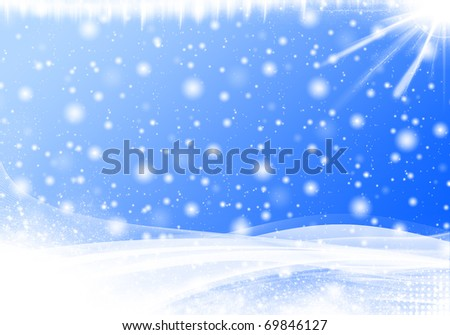 Winter Abstract Background - stock photo