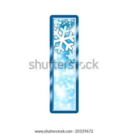 Winter Alphabet Letter I - stock photo
