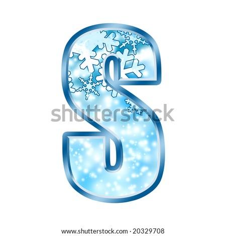Winter Alphabet Letter S - stock photo