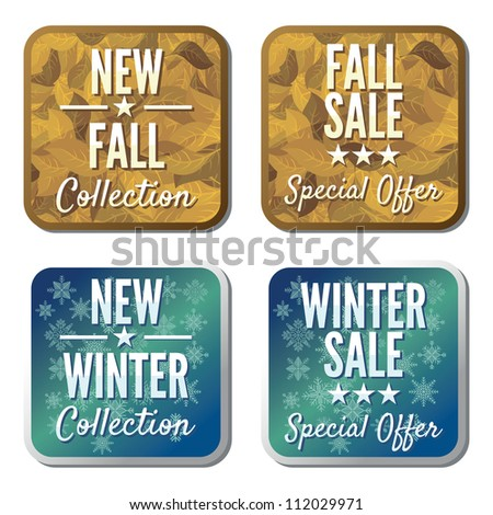 winter and autumn sale collection - stock photo