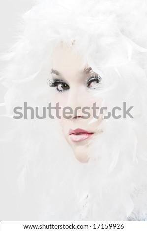 Winter Angel - stock photo