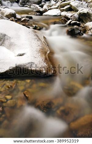 winter around river - stock photo