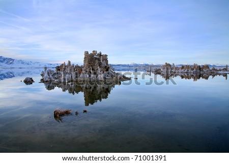 Winter at Mono Lake, California. - stock photo