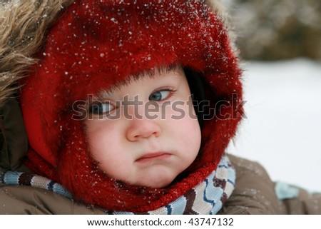 winter baby - stock photo