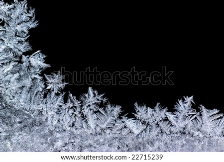 Winter background- close-up of ice - stock photo