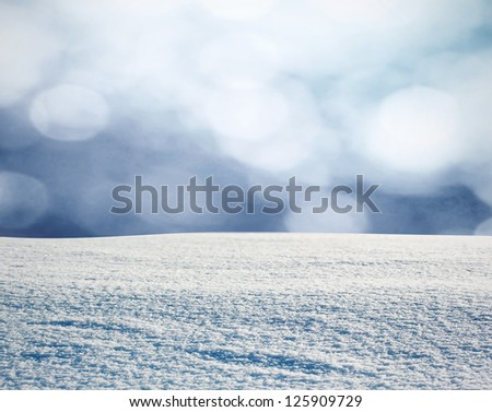 Winter background in snow - stock photo