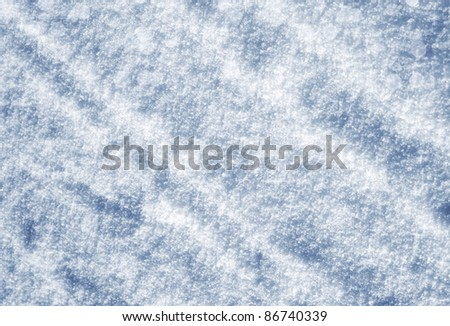 Winter background - snow texture with shadow - stock photo