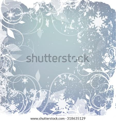 Winter background, snowflakes  - stock photo