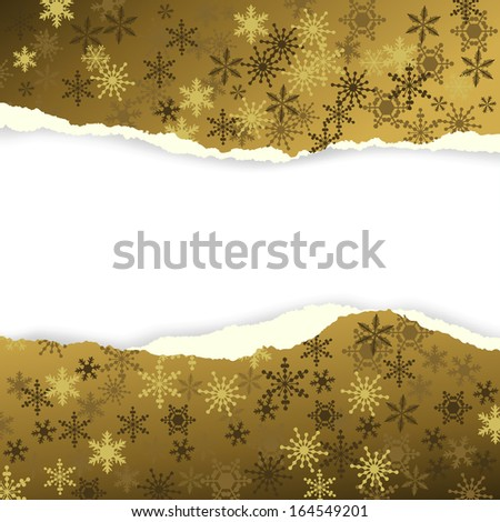 Winter background, snowflakes - illustration - stock photo