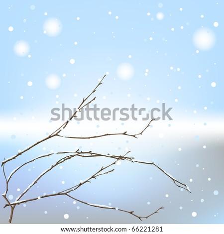winter background thread - stock photo