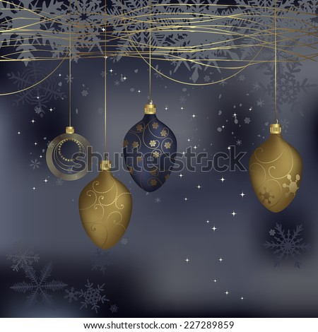 Winter background with a space for your text - illustration - stock photo