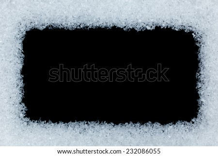 winter background with black copy space - stock photo