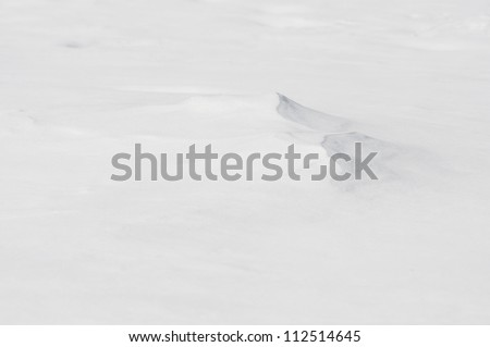 Winter background with small snowdrift - stock photo