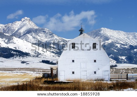 Winter Barn - stock photo
