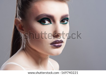 Winter Beauty Woman. Christmas Girl Concept. Holiday Fashion Portrait. - stock photo