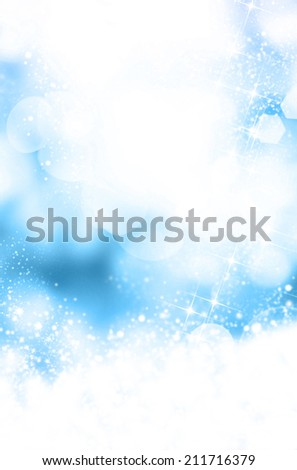 Winter blue abstract background