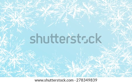 Winter blue background with snowflakes