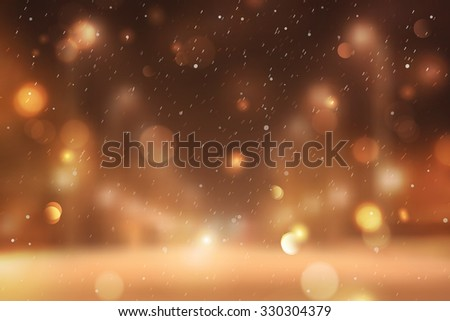 Winter blurred background, snowy landscape for christmas and new year design - stock photo