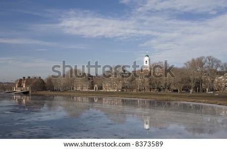 Winter Cambridge, Massachusetts - stock photo