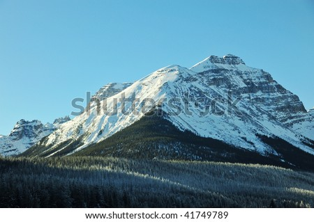 Winter canadian rockies landscape in yoho national park, british columbia, canada