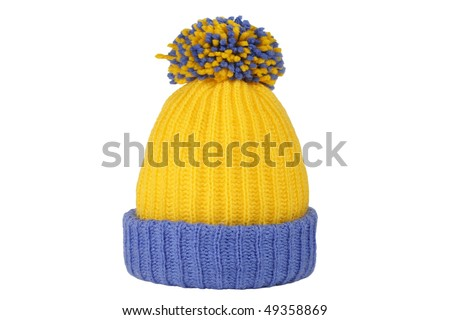 winter cap on whaite background-2 - stock photo