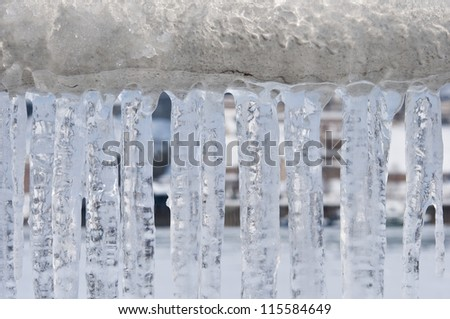 winter chains - stock photo
