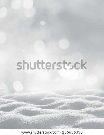 winter  christmas background - stock photo