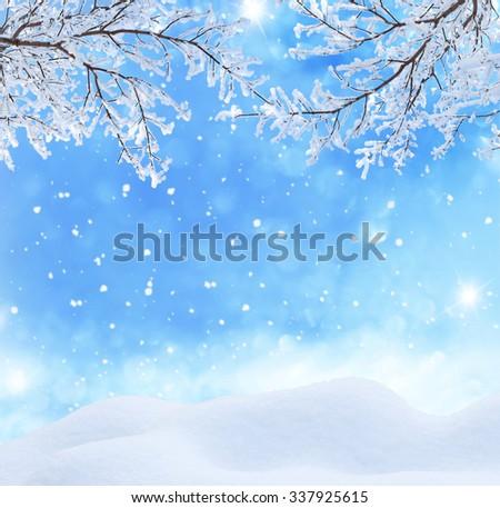 winter christmas landscape  - stock photo