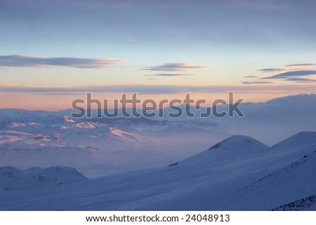 Winter cloudscape - stock photo