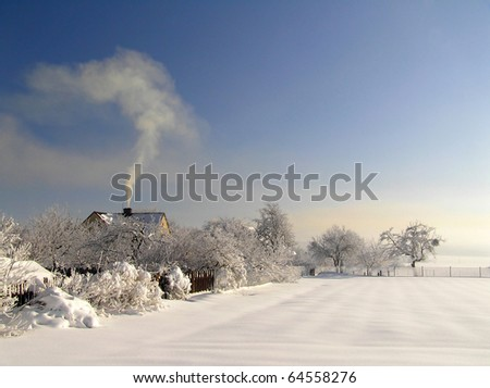 Winter countryside - stock photo