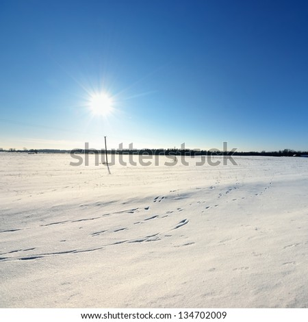 winter countryside view - stock photo