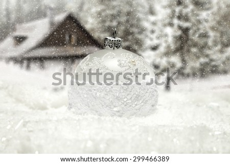 winter day and xmas time  - stock photo