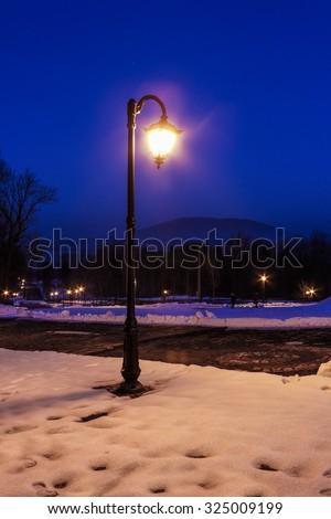 Winter evening - stock photo