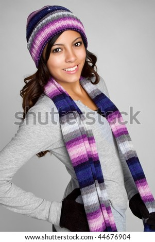 Winter Fashion Girl - stock photo