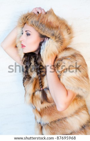 Winter fashion look - stock photo