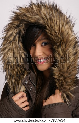 winter fashion with teenager
