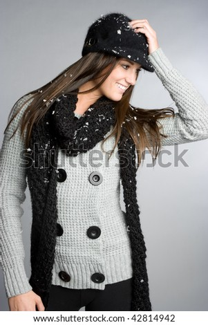 Winter Fashion Woman - stock photo