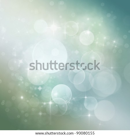 Winter Festive Christmas  winter  abstract background with  bokeh lights and stars - stock photo