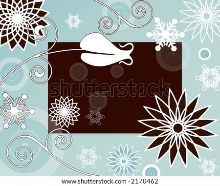 winter filigree background series - stock photo