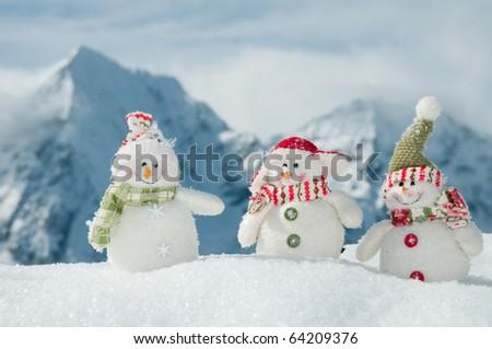 Winter friends - stock photo