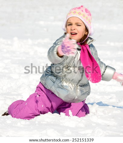 winter games in the snow/winter games in the snow - stock photo