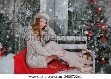 Winter girl smile