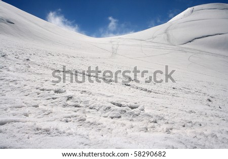 Winter High Mountains Landscape - stock photo