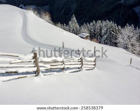 Winter Hiking Trail - stock photo
