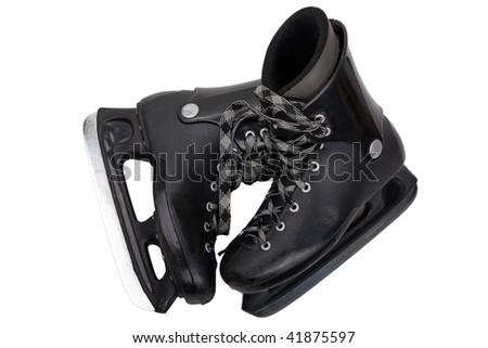 Winter hockey sport ice skates equipment - stock photo