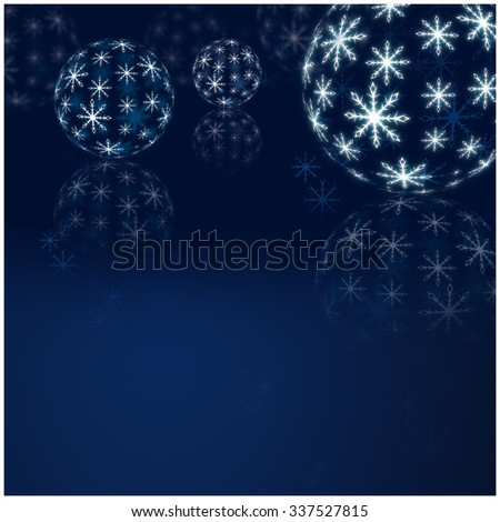 Winter Holiday Snow Background. Christmas Abstract Defocused Backdrop with Snowflakes. Christmas decorations - stock photo