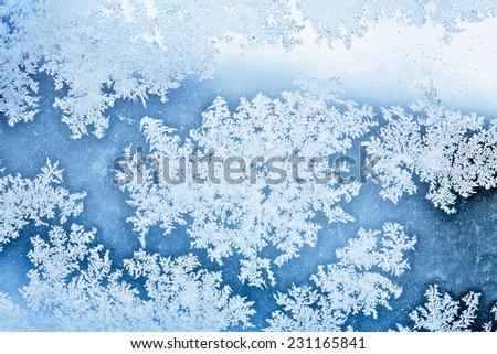 winter ice rime background - stock photo